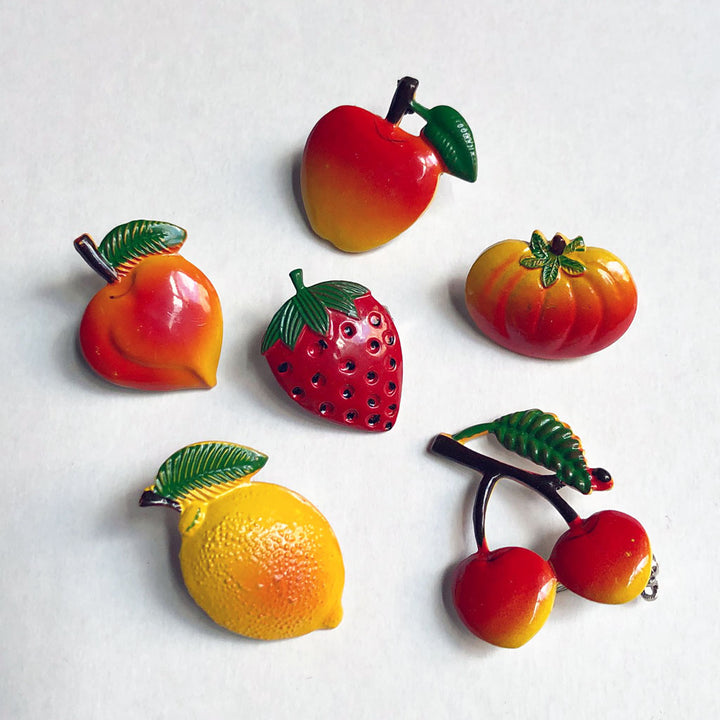 Vintage Enamel Fruit Pin