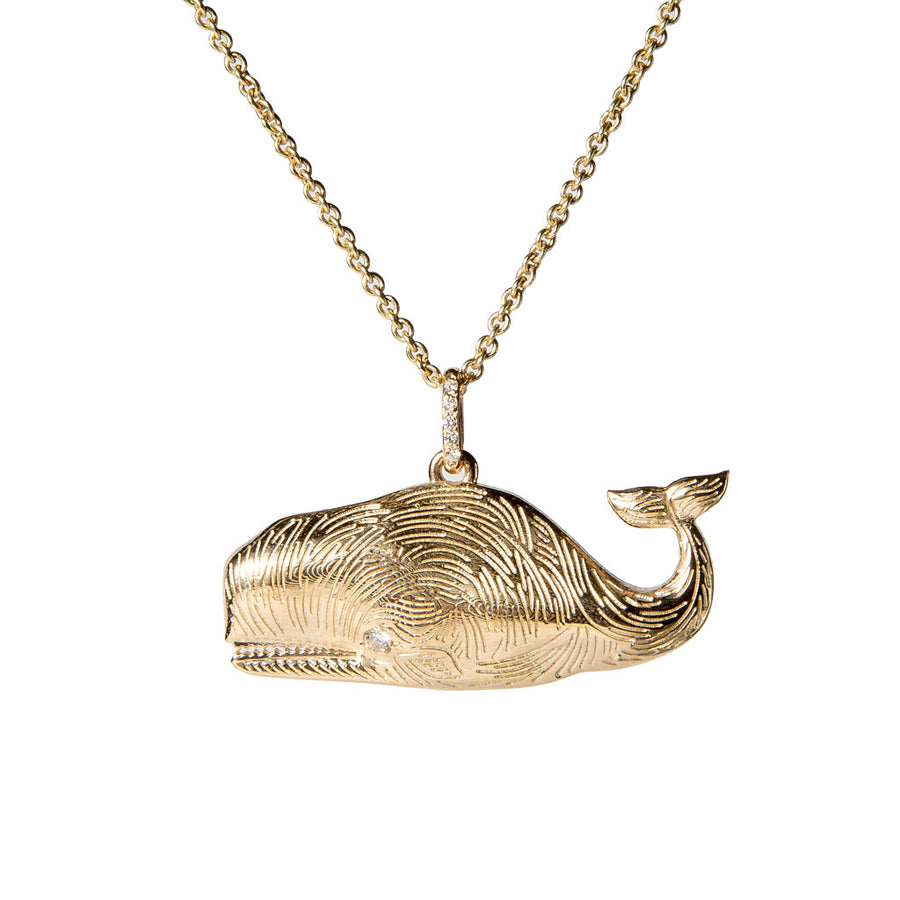 Large Whale Charm with Diamond Eye {PMF007x}