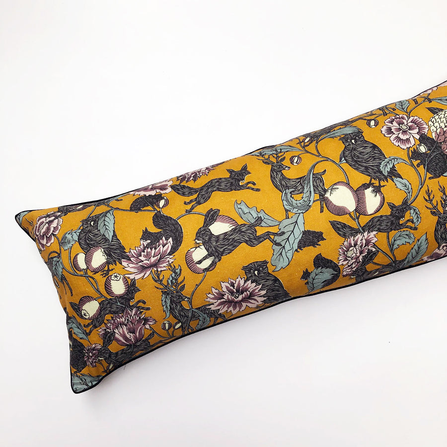 PATCH  NYC x Antoinette Poisson Twilight Yellow Multicolor Bolster Pillow