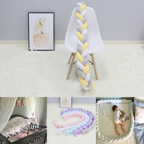 Braided Crib Bumper & Knot Pillow [Multi functional]