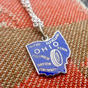 Ohio State Necklace - Blue