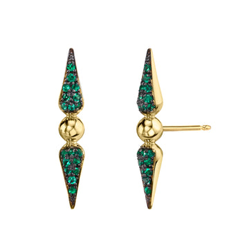 Shirley Pave Spear Studs