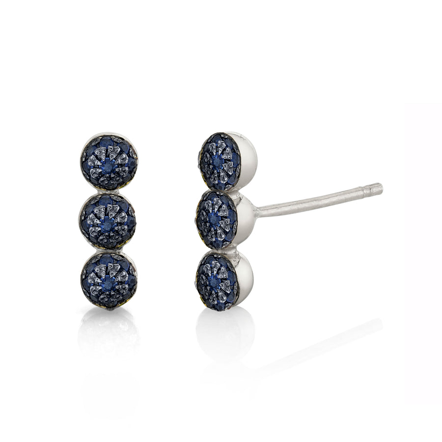 Triple Pave Ball Studs