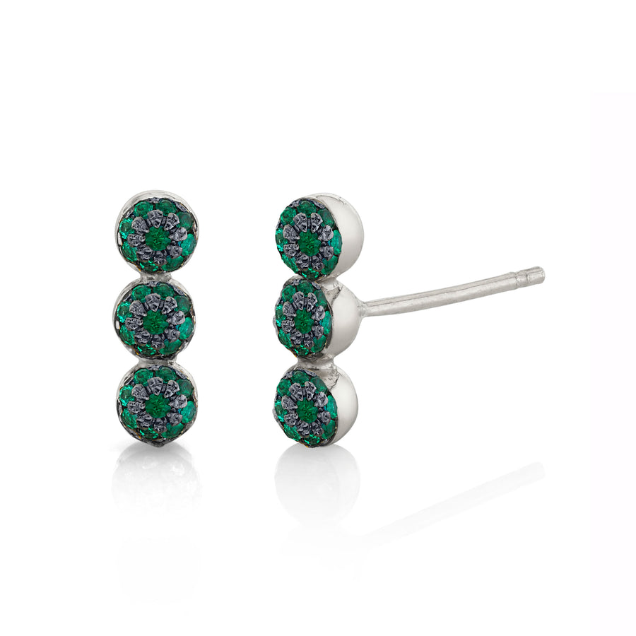 Single Triple Pave Ball Stud