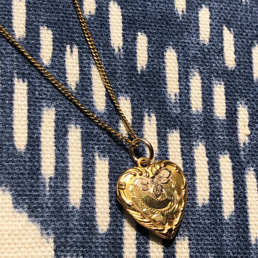 Two-Tone Floral Locket