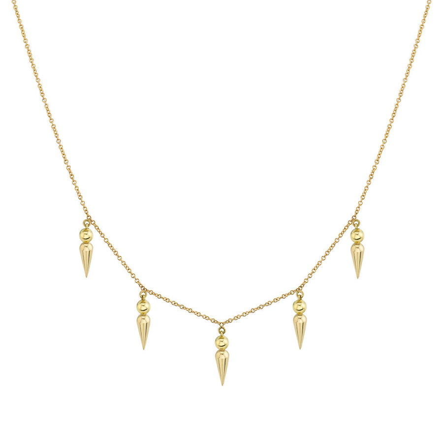 5 Point Spear Tip Collar Necklace