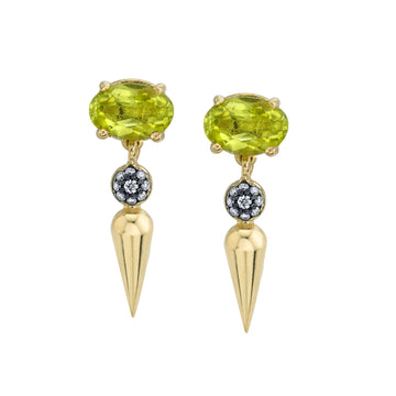Pave Center Spear Dangle Studs