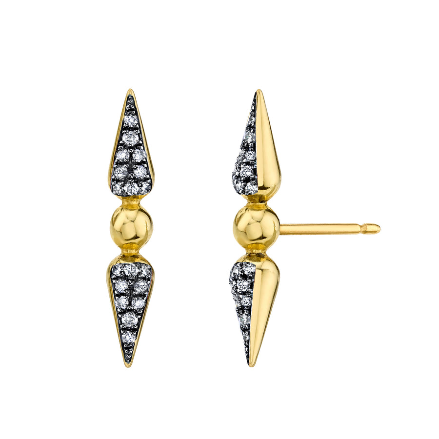 Shirley Pave Spear Studs - Diamond