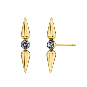 Shirley Pave Center Studs - Diamond