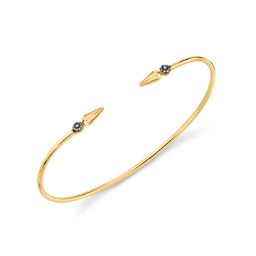 Pave Center Shirley Spear Bangle - Diamond