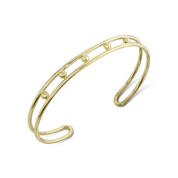 5 Point Double Wire Cuff - Gold