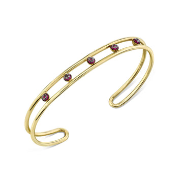 5 Point Pave Center Double Wire Cuff