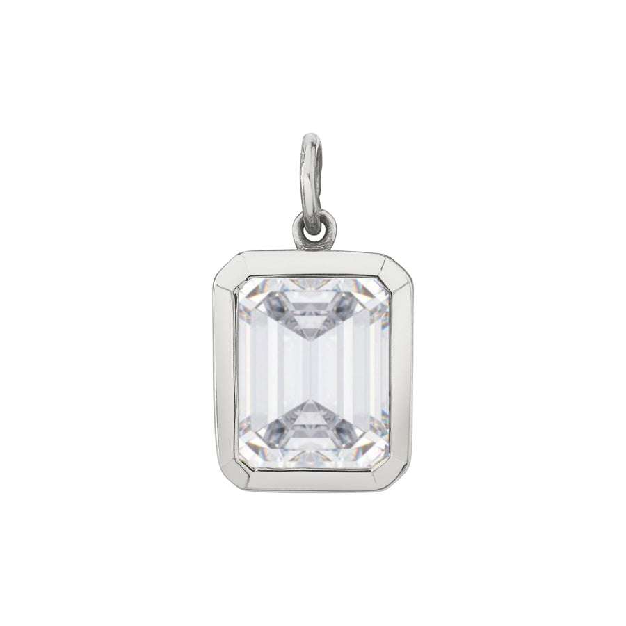Bezel Set Emerald Cut Charm