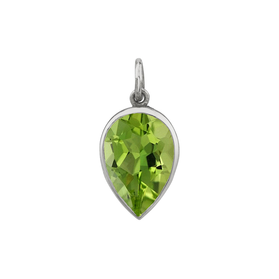 Bezel Set Pear Charm