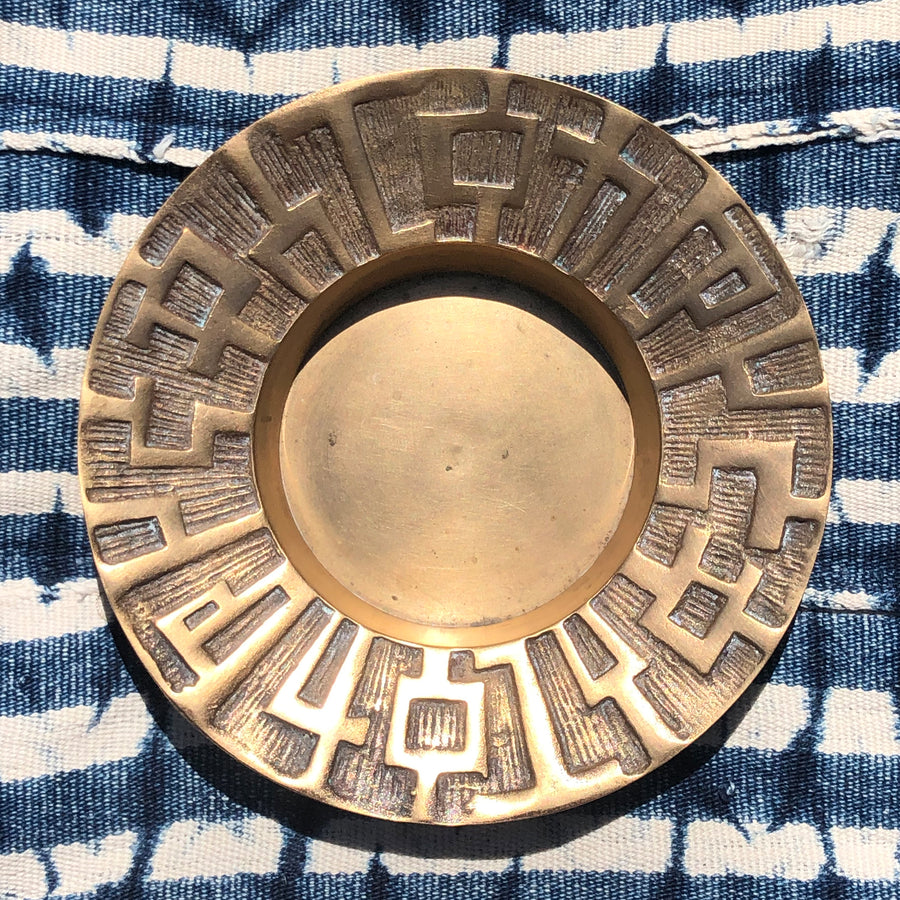 Brass Tiled Jewelry Dish
