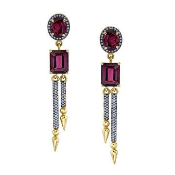 Double Pave Spear Shirley Cocktail Earrings