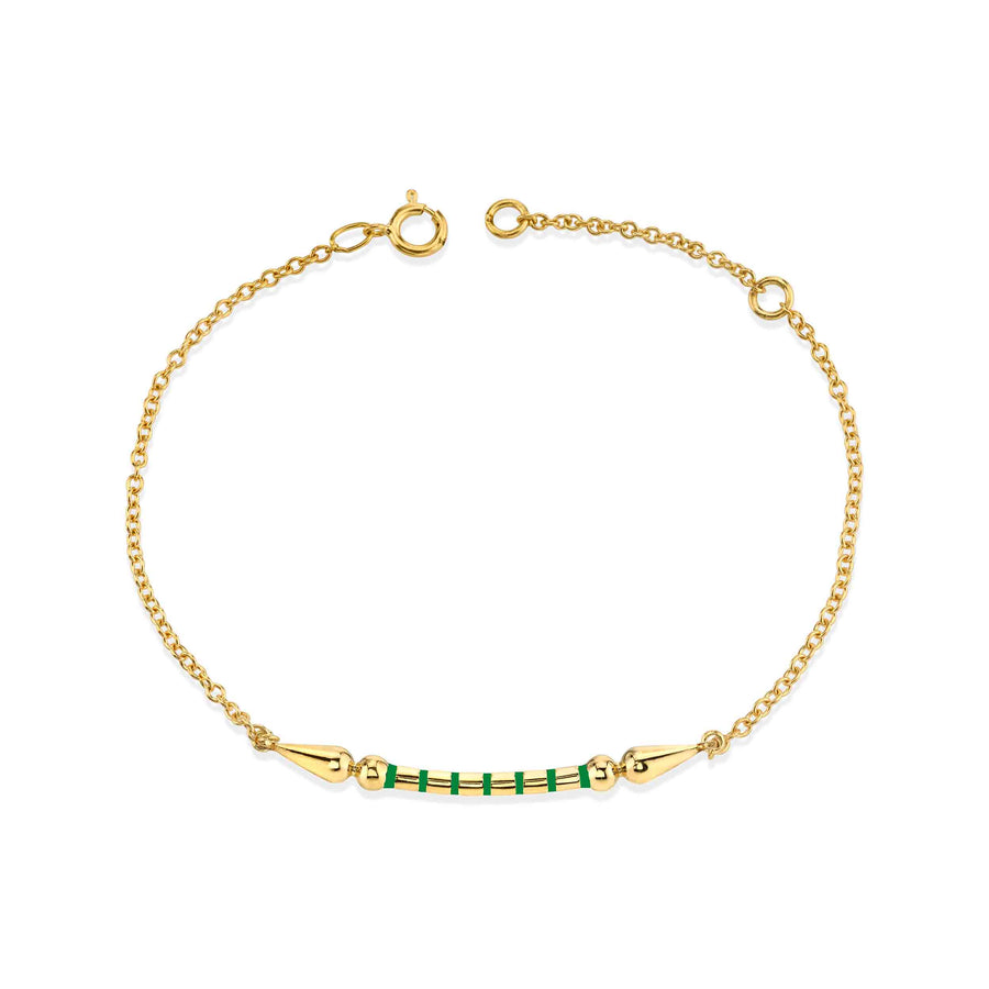 Enamel Stripe Shirley Spear Chain Bracelet