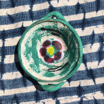 Flower Power Jewelry Dish - Aqua