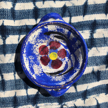 Flower Power Jewelry Dish - Blue