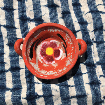 Flower Power Jewelry Dish - Orange