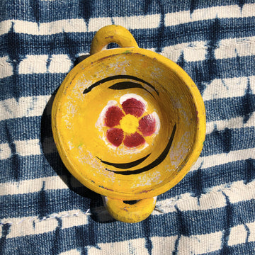 Flower Power Jewelry Dish - Yellow