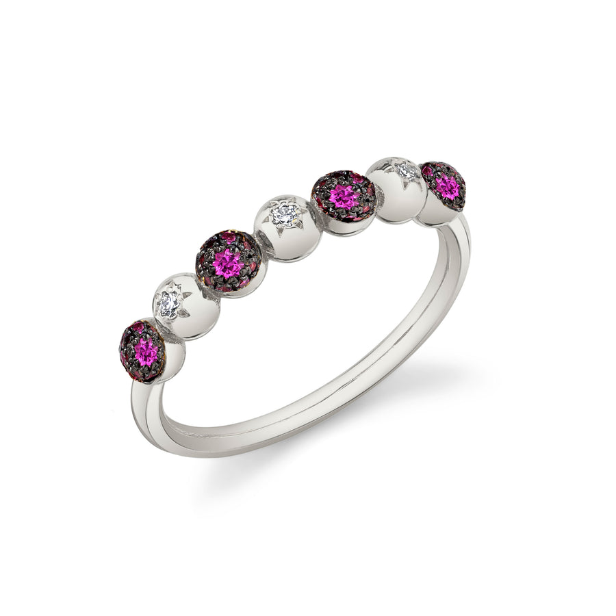 Half Eternity Mash Up Ring