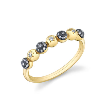Half Eternity Mash Up Ring - Diamond