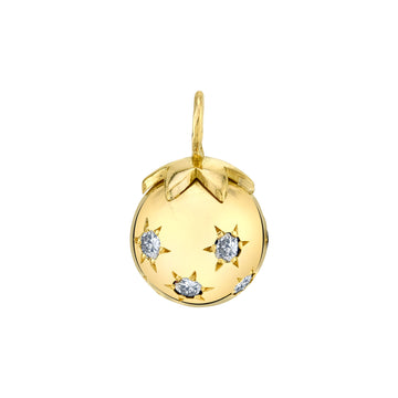 Large Ethel Ball Charm - Diamond
