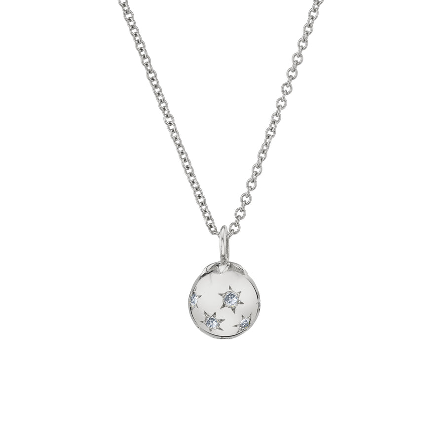 Mini Ethel Ball Necklace - Diamond