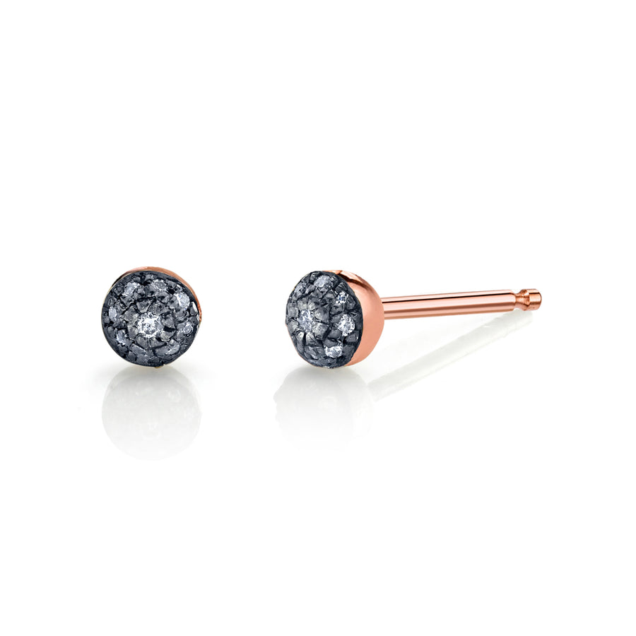 Single Mini Pave Ball Stud - Diamond