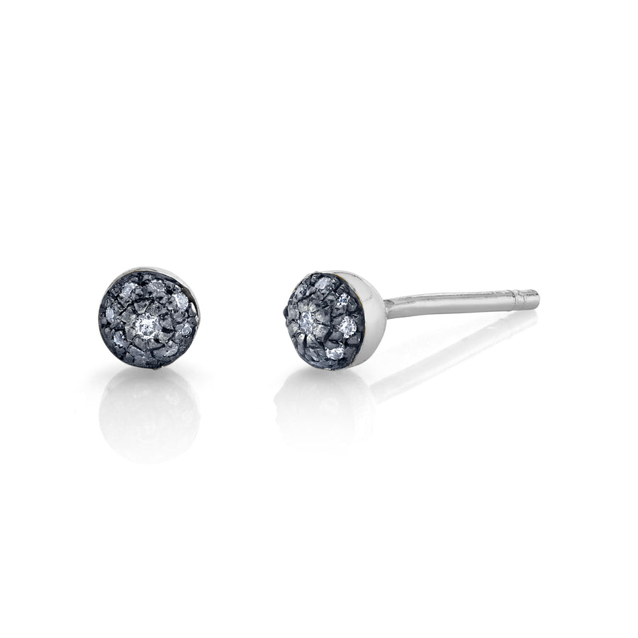 Mini Pave Ball Studs - Diamond