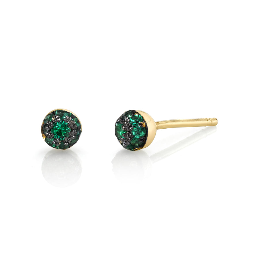 Single Mini Pave Ball Stud