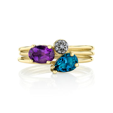 Mixed Tres Stacking Ring Set