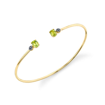 Oval and Pave Ball Bangle