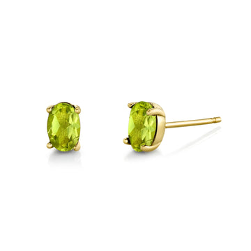 Oval Gemstone Studs