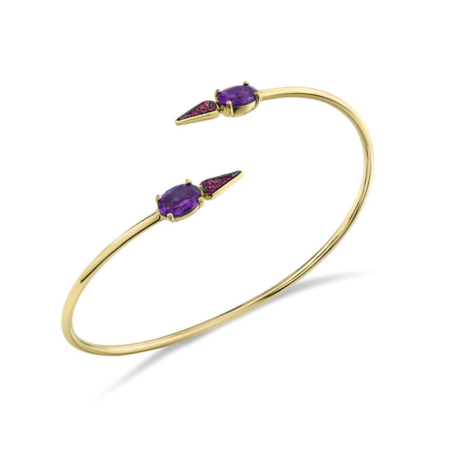 Pave Spear Twist Bangle