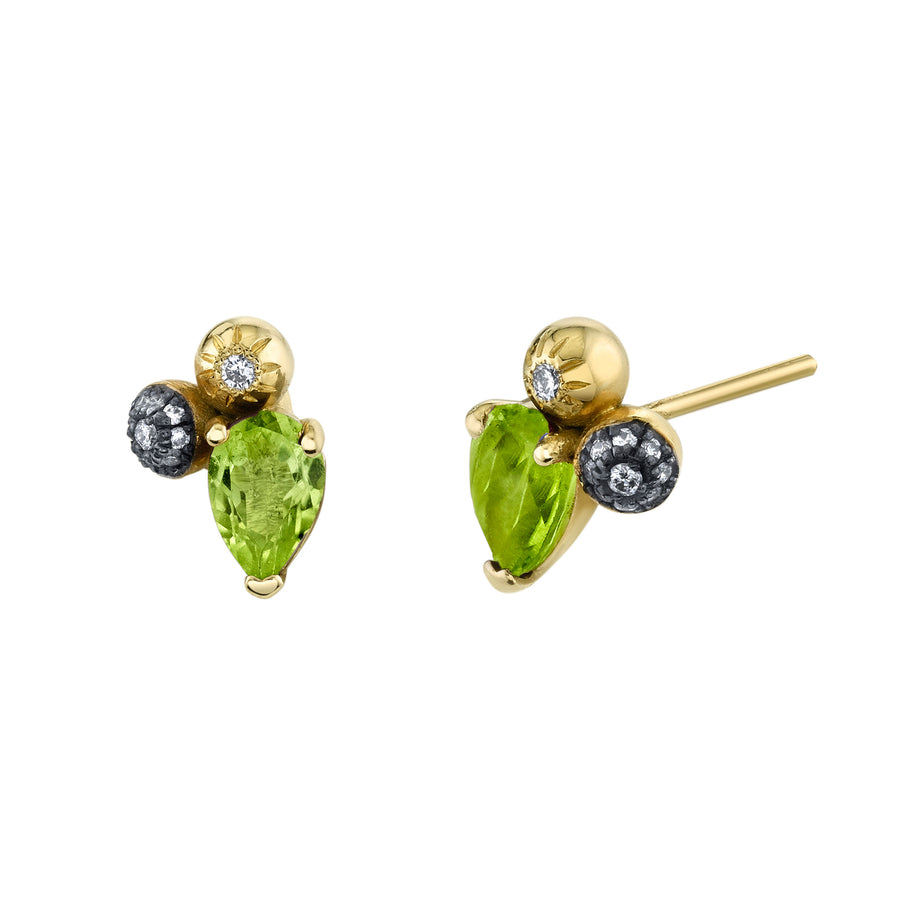 Pear Gemstone Mash Up Studs