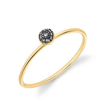 Pave Ball Stacking Ring - Diamond