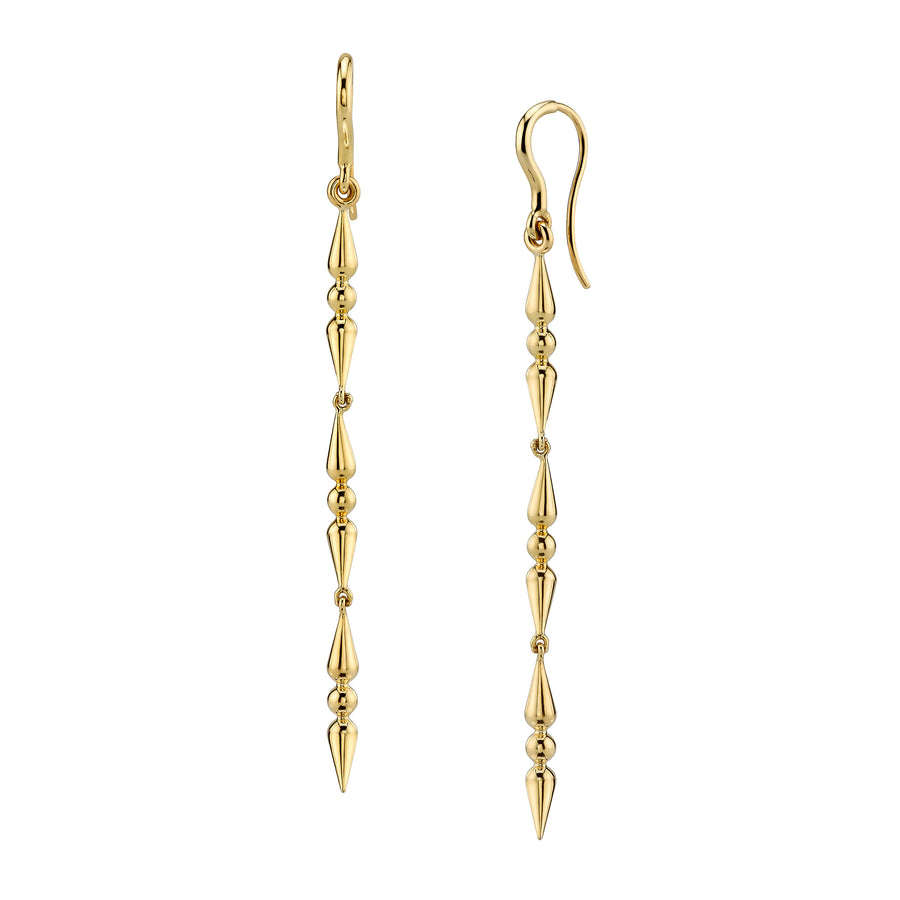 Triple Spear Drop Earrings