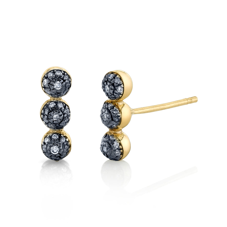 Triple Pave Ball Stud - Diamond