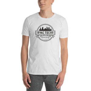 HVAC Techs: Cooling a Nation - Gildan 64000 Unisex Softstyle T-Shirt with Tear Away Label