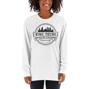 HVAC Techs: Cooling a Nation - American Apparel 2007 Unisex Fine Jersey Long Sleeve T-Shirt