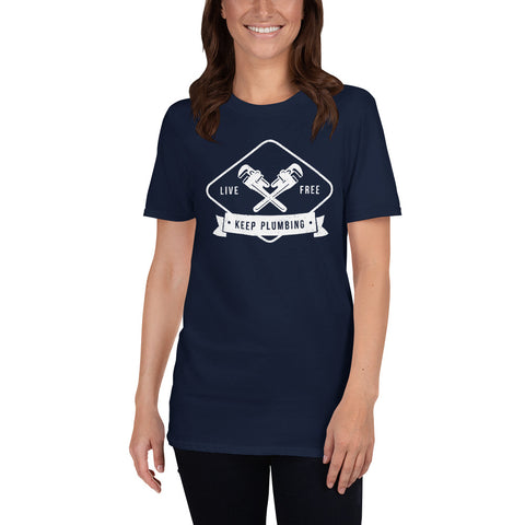 Keep Plumbing - Gildan 64000 Unisex Softstyle T-Shirt with Tear Away Label