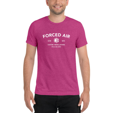 Forced Air - Bella + Canvas 3413 Unisex Triblend Short Sleeve T-Shirt with Tear Away Label