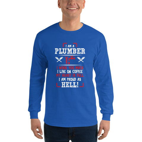 Image of Plumber Proud - Long Sleeve T-Shirt