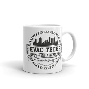 HVAC Techs: Cooling a Nation -  White Glossy Mug