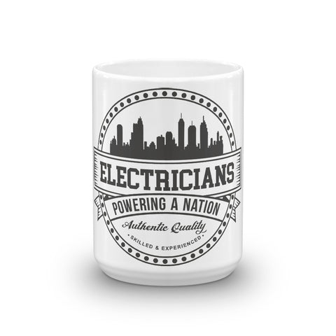 Electricians: Powering a Nation - White Glossy Mug