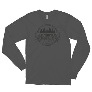 Electricians: Powering a Nation - American Apparel 2007 Unisex Fine Jersey Long Sleeve T-Shirt
