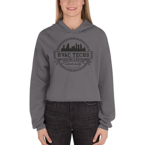 HVAC Techs: Cooling a Nation - Bella + Canvas 7502 Women's Fleece Crop Hoodie