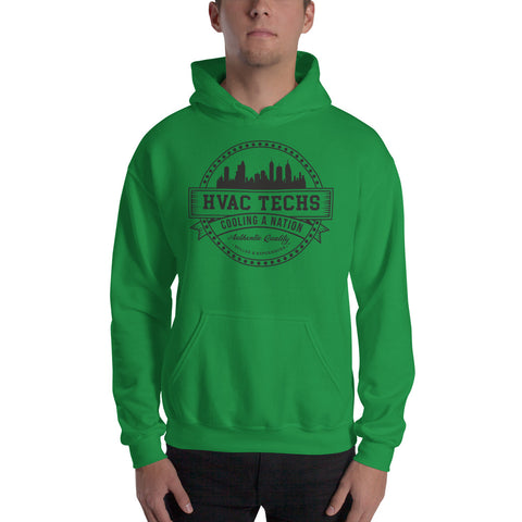HVAC Techs: Cooling a Nation - Gildan 18500 Unisex Heavy Blend Hooded Sweatshirt